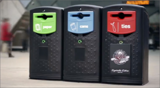 Sol Beer - Necktie Recycling Bin