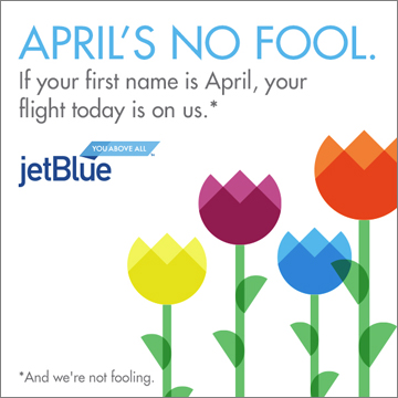 JetBlue - Free Flights for April