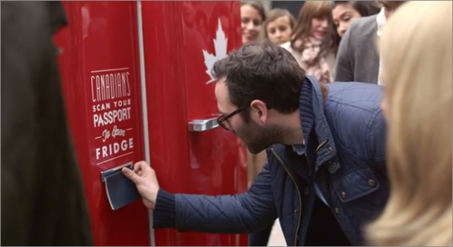 Molson Canadian - Beer Fridge Opens by Canadian Passport