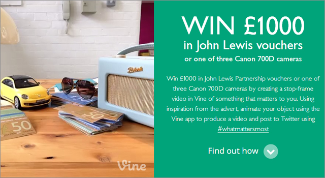 John Lewis Insurance Vine Competition