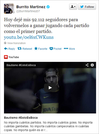 Argentine Football Player Deletes Twitter Followers for Nike Campaign