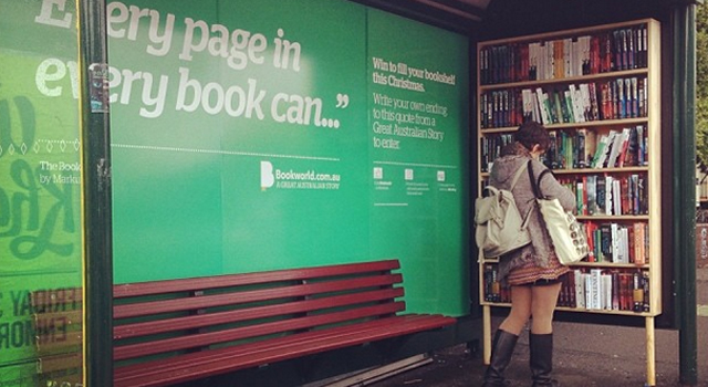 Bookworld Bus Stop Bookshelf