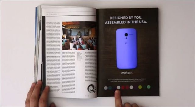 Motorola Moto-X Wired Interactive Magazine Ad