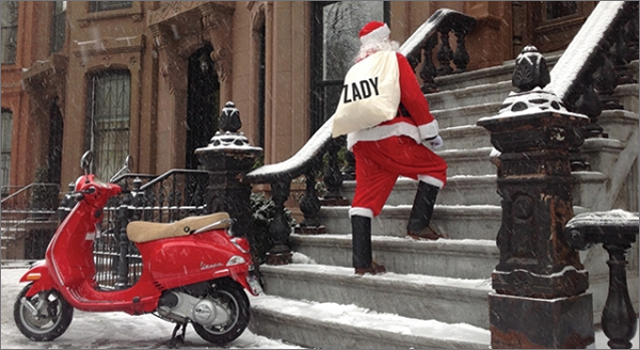 Zady Partners with Vespa for Operation Santa