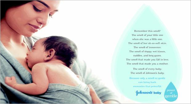 Johnson & Johnson - Baby Powder Scent Infused Print Ad